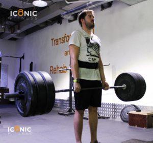 Dimitris Vergos deadlift at Iconic Fitness